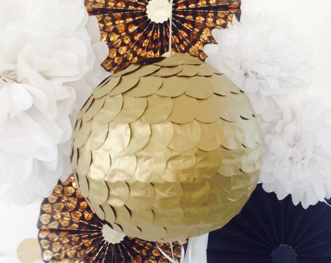 Gold Gender Reveal Piñata | Antique Gold Wedding Piñata | Gold Birthday Piñata | Baby Shower Piñata