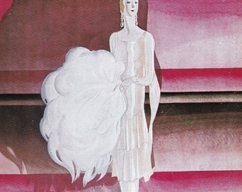 Vogue Magazine Cover aon stage art deco art nouveau home decor print fine art fashion vintage from 1981