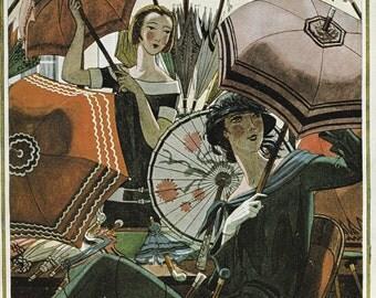Vogue Magazine Cover 1924 art deco art nouveau home decor print fine art fashion vintage from 1981