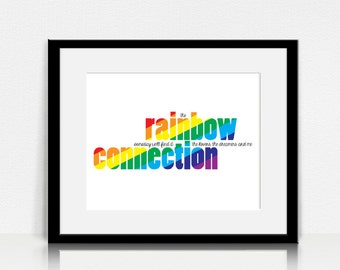 Rainbow Connection / The Muppets - Lyrics Wall Art - Digital Instant Download