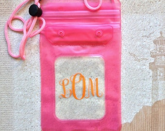 Keep It Dry Pouch, Waterproof Pouch, Personalized Cell Phone Pouch, Beach, Lake, Boat, Pool, Cell Phone Case