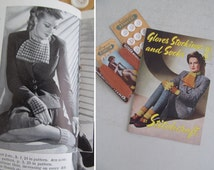 Wonderful 1940s WWII Stitchcraft KNITTING MAGAZINE~War effort: Knit your own gloves & save coupons!~Great designs and fab photos