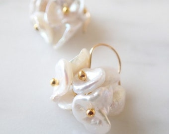 K14gf Blooming Shell Earrings