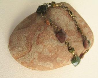2299 - Jasper and Turquoise Bracelet