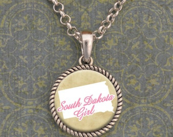 South Dakota Girl Necklace - SOY56066SD