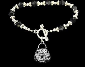 Purse Beaded Toggle Bracelet