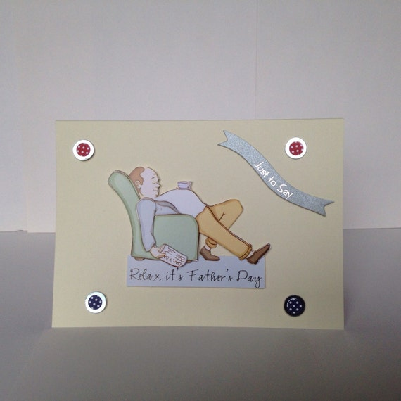handmade card fathers day card male cards dad by SuchCraftsWow