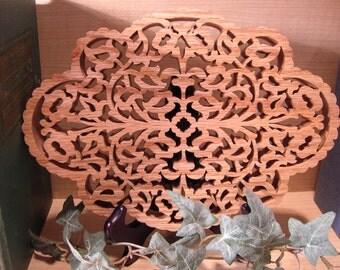 Fretwork Wooden Trivet #125