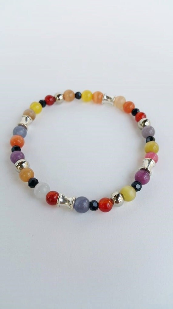 mans turquoise bracelet bead bracelet gemstone by tresjoliept