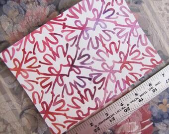 "Pattern Peplum in Pink & Purple (5""x7"" Watercolor Painting)"