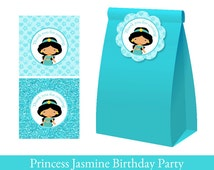 Jasmine Thank you Tags, Princess Jasmine Party, Loot Bag Label, Jasmine Birthday Printable, Princess Jasmine Decorations