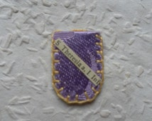 Small Relic Reliquary Lilac Fabric Pouch St Theresia a J. Inf - Saint Thérèse of the Child Jesus and the Holy Face - Italy - FREE SHIPPING