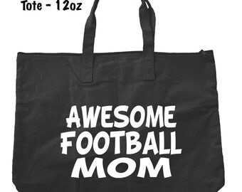 Awesome Football Mom Tote Bag - Football Tote Bag - Bags and Totes - Football Mom Bag - Football Present - Gifts For Mom