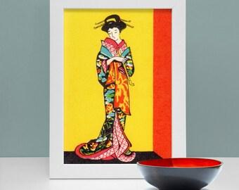 Japanese Geisha Print