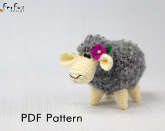 Сrochet sheep pattern, DIY, amigurumi pattern, lamb pattern, crochet animals, PDF pattern, crochet toy pattern