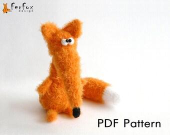 Crochet fox pattern, amigurumi pattern, DIY, crochet amimal, PDF pattern, crochet toy pattern