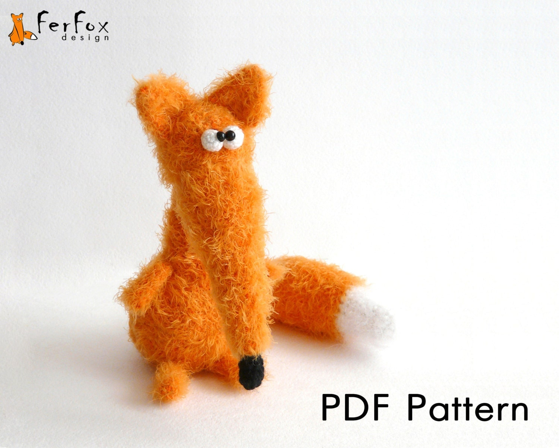 Crochet fox pattern amigurumi pattern DIY crochet amimal