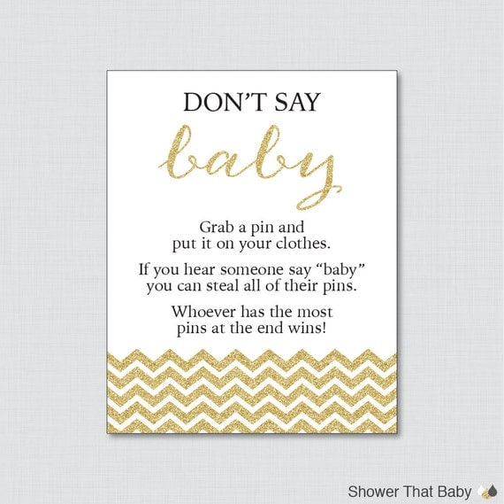diaper pin clothes pin game chevron baby shower glitter chevron
