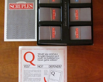 Scruples Game (A Question Of)- Vintage Milton Bradley: 1986 Made In The USA