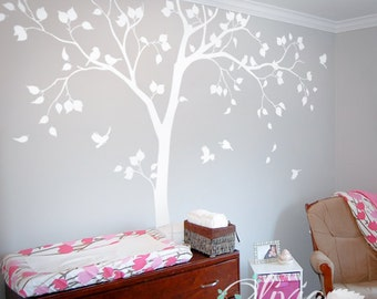 Cute Baby Nursery Tree Decal - Large Vinyl Wall Tree Decal Wall Sticker Wall Decoration - NT050