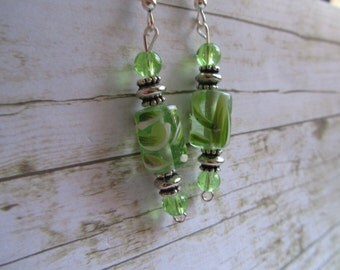 Green Earrings, Lime Green Earrings, Summer Earrings, Birthday Gifts Women, Earrings, Green Prom Earrings, Mothers Day Earrings, Gifts