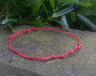 Women's Red String Bracelet, Red Thread, Kabbalah