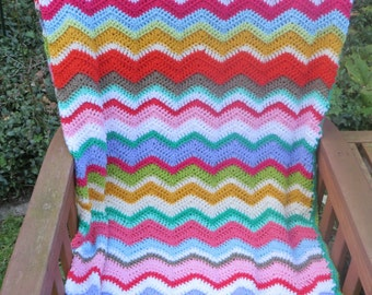 Spring Ripple Blanket/Spring zigzag blanket