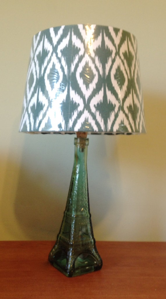 eiffel tower green glass bottle table lamp small table lamp glass. Black Bedroom Furniture Sets. Home Design Ideas