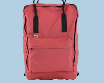 Final Sale - Classic Red Soft Cotton Backpack