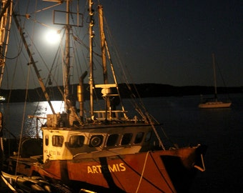 Wellfleet, Cape Cod Art - Artemis in Wellfleet Harbor Fine Art Photograph - Cape Cod Gift