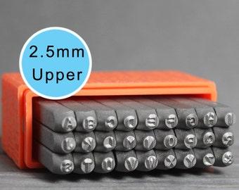 ImpressArt 2.5mm Uppercase Basic, Uppercase Letters, Basic Letters, ImpressArt Stamps, Metal Stamps, Uppercase Stamps, Metal Stamps, INV1025