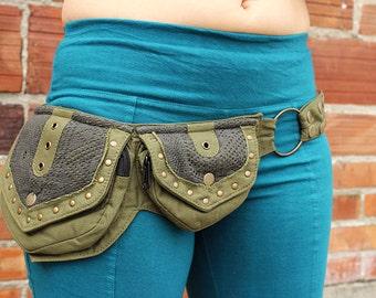 2 Pocket Crochet Belt (hip belt, pocket belt, utility belt, festival belt, Burning Man, vending belt, hip pouch, festival clothing, pockets)