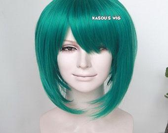 SALE!  50% OFF Macross Frontier Ranka Lee green thick bob cosplay wig with ahoge on top