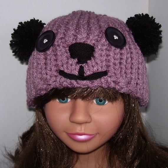 Knitting Pattern For Teddy Bear Hat : Teddy bear hat. Knit bear hat. Bear hat. by CTDESIGNSBESPOKEBAGS