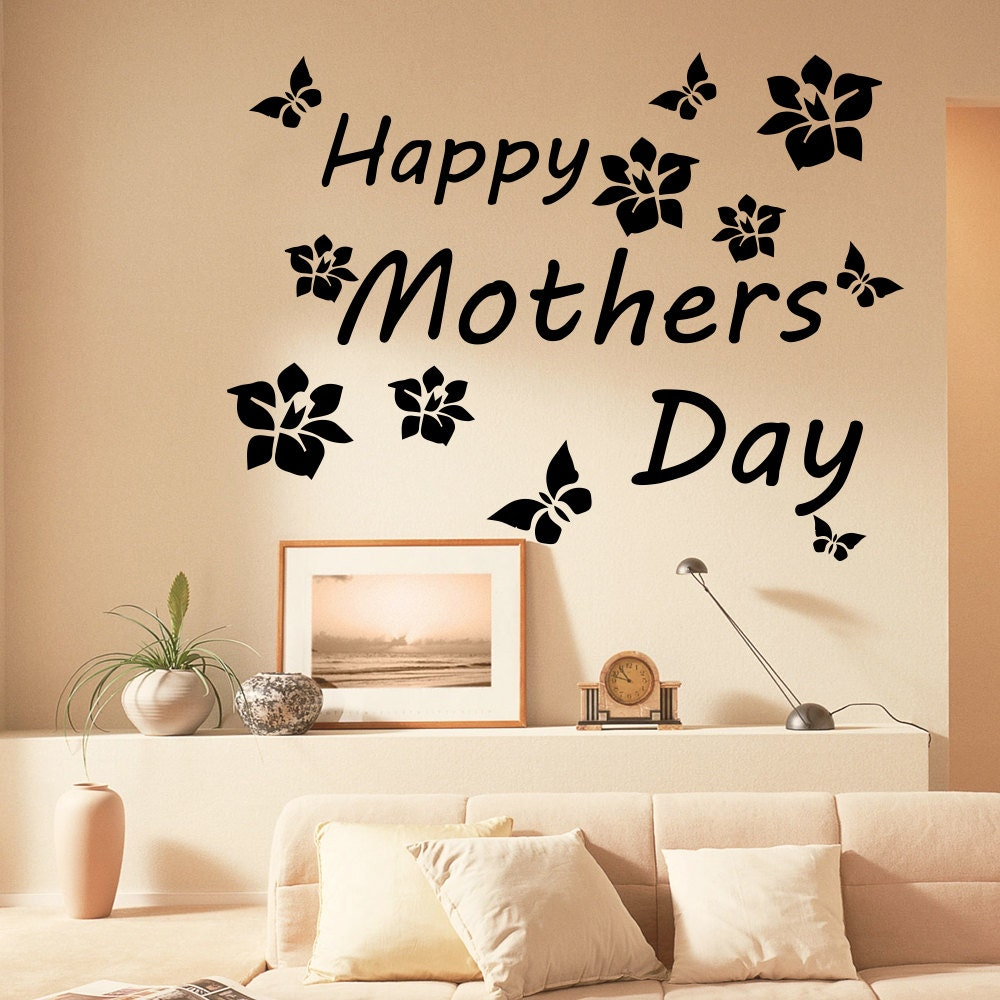 Family Wall Decals Love Quote Happy Mothers Day Vinyl