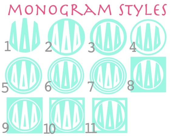 Greek Letter Circle Monogram Decal by SimpleNChicBoutique ...
