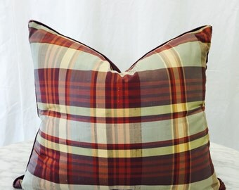 16 inch Down Pillow - Kravet and GroundWorks Fabrics (MADE IN TEXAS)