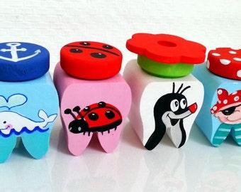 Mimi&Loui custom hand painted Tooth Box The little mole
