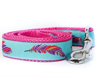 Feather Dog Leash / Aqua Dog Leash