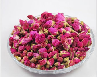 Organic Aromatic Pink Rose Buds 1 oz Pure or Blend with Other Fragrant flowers Tea or Green Tea/Red Tea PICK Your Ingredient