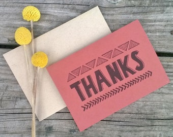 Tribal Thank You Cards, Thank You Note, Hipster Thank You, Wedding Thank You Cards