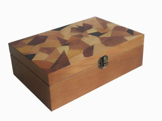 Handmade - Wooden Box - Jewelry Box - Marquetry - Inlay