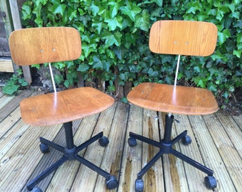 Danish office chairs by Rabami Stole (rare)