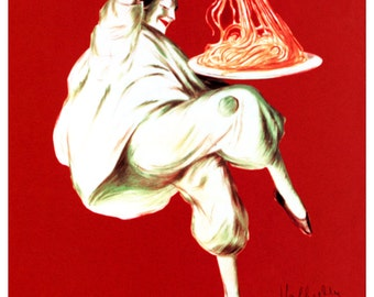 Pates Baroni Poster, Spaghetti, Vintage Italian Pasta Advertising by Leonetto Cappiello