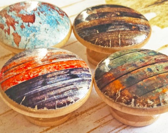 ON SALE Rustic Knobs, Choose By Number Distressed Wood Drawer Pulls, Cabinet Pull Handles, Old Barn Wood Style, Reclaimed Wood, Made To Orde