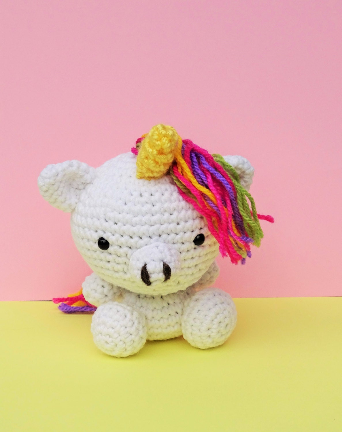 Unicorn Amigurumi Yarn Yard : Amigurumi Unicorn Crochet Unicorn Toy Amigurumi by ...
