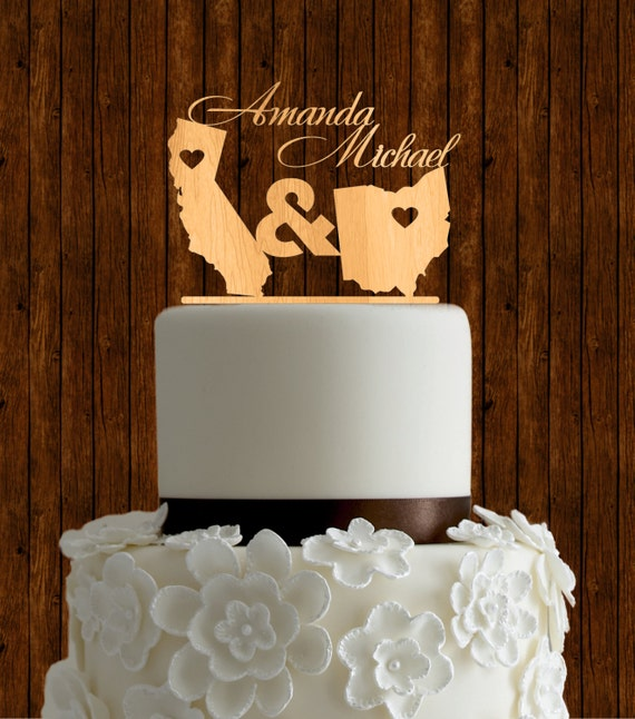 how to make wedding cake toppers from fondant state cake topper wood cake topper wedding cake 16060