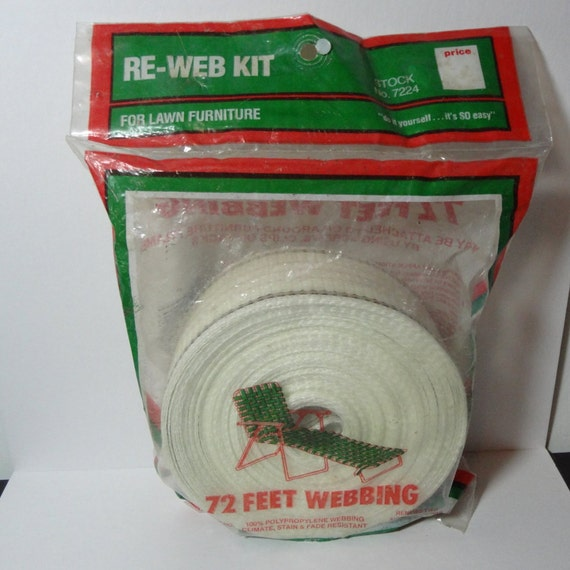 vintage frost king lawn furniture re webbing kit white with. Black Bedroom Furniture Sets. Home Design Ideas