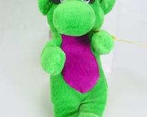 Vintage Baby Bop Plush Barney the Purple Dinosaur ...