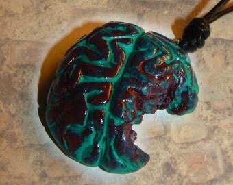 Brain Grün Blood Brain Zombie half-eaten Food Horror The Walking Dead Halloween Horror Pendant Necklace